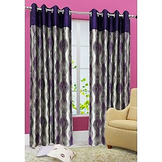 Homefab India Stylish Purple Window(6X4 ft)Curtain(HF316)