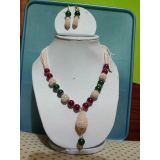 Beaded Necklace With Multi Color Stones (Code : BD1051)