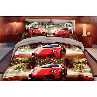 valtellina desinger polycotton double bedsheet with two pillow cover (LKY-017)