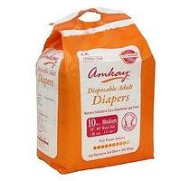 AMKAY - Adult Diapers Medium Size (Pk of 10 Pcs)