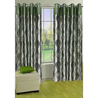 Homefab India Stylish Green Window(5X4 ft)Curtain(HF320)