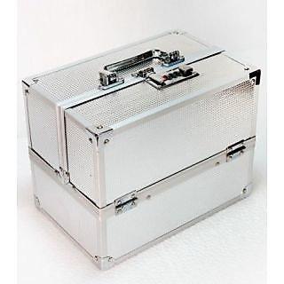 Free Shipping Silver Wedding Offer Bridal Vanity Makeup Kit Box Jewelery Box
