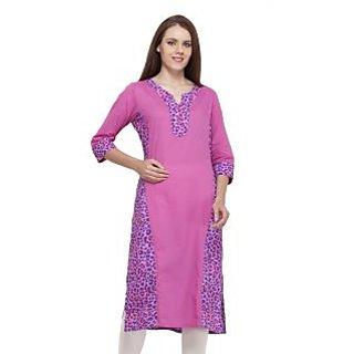 women cotton pink panther printed kurti