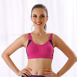 Clovia Cotton Soft Cup Bra In Pink