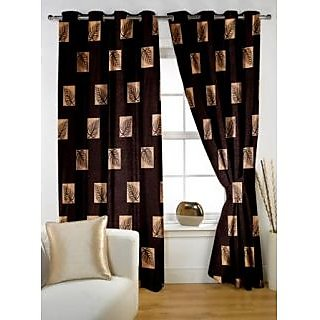 Story@Home Brown  Window Curtain Nature 2 pc Window curtain