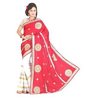 Stylobby Embrioded Saree With Blouse