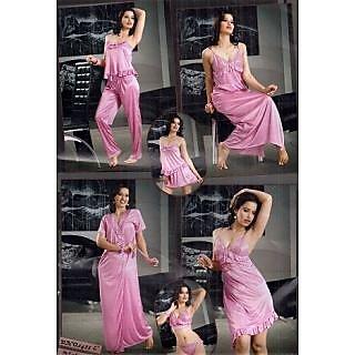 f9fb2ce9d2 Hot Womens Sexy Sleep Wear 8pc Bra Panty Skirt Babydoll Slip Top Pyjama  Nighty Over Coat