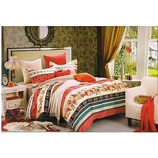 Valtellina 100 Cotton Traditional Design Double Bed Sheet (FCA-013)