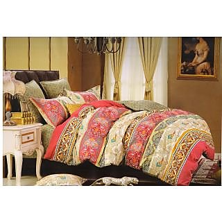 Valtellina 100 Cotton Traditional Design Double Bed Sheet (FCA-015)