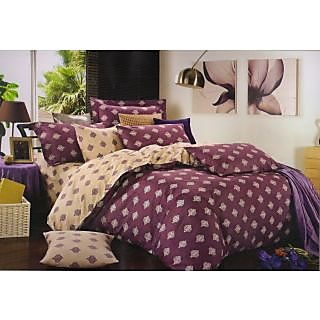 Valtellina 100 Cotton Traditional Design Double Bed Sheet (FCA-021)