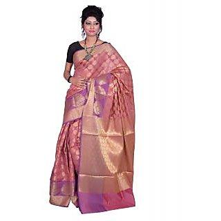 Banarsi Silk Works Gajri With Multi Color Art Silk Saree (BS272)