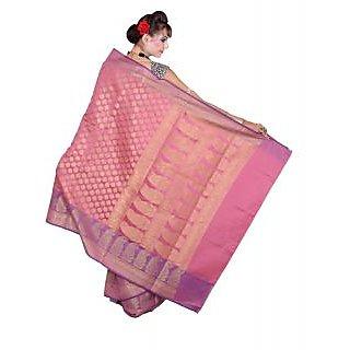 Banarsi Silk Works Gajri With Multi Color Art Silk Saree (BS274)