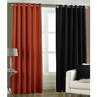 Homesazz Solid Design Door Curtains(Set of 2)