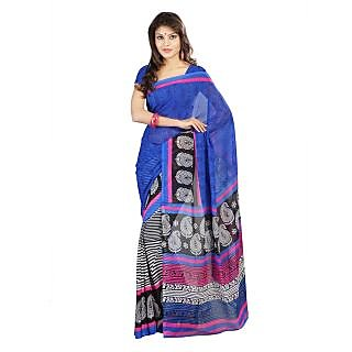 Florence Blue Faux Georgette  Printed Saree
