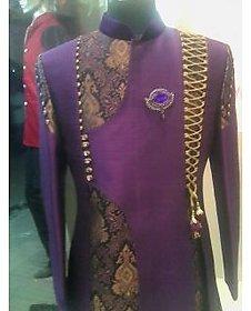 Bhola Fashion Blue Sherwanis