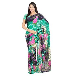 Florence Multicolor Faux Georgette  Printed Saree