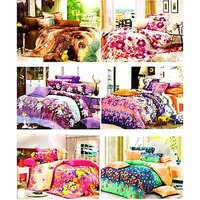 Sai Arpan Super Saver Combo 6 Double Bed Sheet With 12 Pilllow Covers