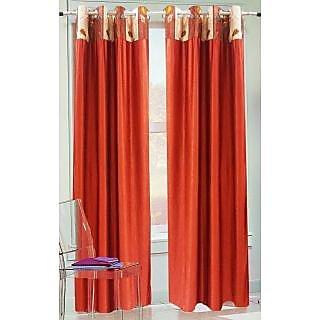 Homefab India Stylish Rust Long Door(8X4 ft)Curtain(HF288)