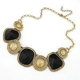 Black Antique Gold Plating Nacklace