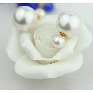 Non Plated  White Studs For Women