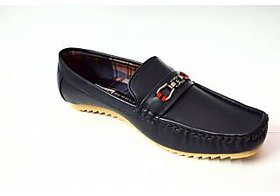 Glambing High Fashion navy blue loafers
