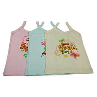 Baby GirlS Vest Coloured Set Of 3