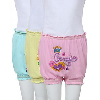 Kids Bloomer Special Coloured Set Of 3