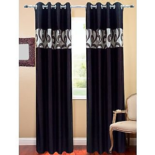 Homefab India Stylish E Brown Window(6X4 ft)Curtain(HF242)