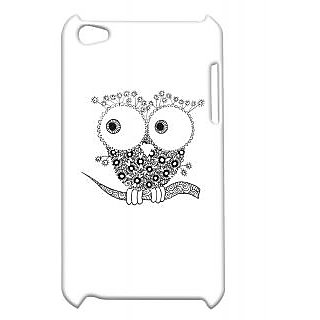 Pickpattern Back Cover For Apple Ipod Touch 4 OWLSKETCHIT4-4505