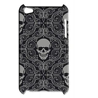 Pickpattern Back Cover For Apple Ipod Touch 4 SKULLBLACKIT4-5360