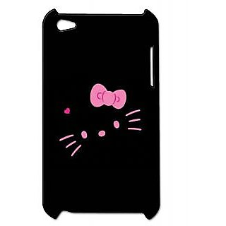 Pickpattern Back Cover For Apple Ipod Touch 4 BLACKKITTYIT4-4746