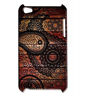 Pickpattern Back Cover For Apple Ipod Touch 4 DARKISHBROWNYIT4-4879