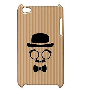 Pickpattern Back Cover For Apple Ipod Touch 4 CHARLIECHAPLINMOUSTACHEIT4-4824