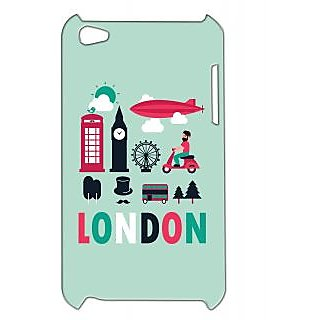 Pickpattern Back Cover For Apple Ipod Touch 4 LONDONIT4-4504
