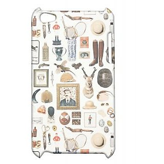 Pickpattern Back Cover For Apple Ipod Touch 4 VINTAGEDOODLEIT4-5438