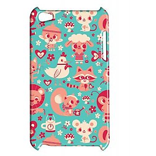 Pickpattern Back Cover For Apple Ipod Touch 4 TIGERLOVEIT4-5409