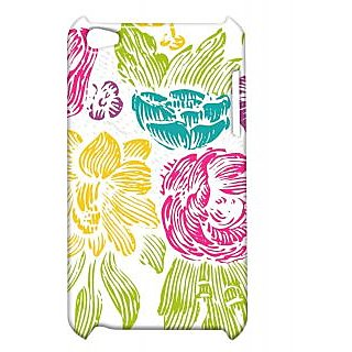 Pickpattern Back Cover For Apple Ipod Touch 4 LINESFLOWERIT4-5100
