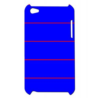 Pickpattern Back Cover For Apple Ipod Touch 4 NAVYSTRIPIT4-5198