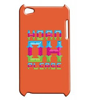 Pickpattern Back Cover For Apple Ipod Touch 4 HORNPLEASEIT4-5034