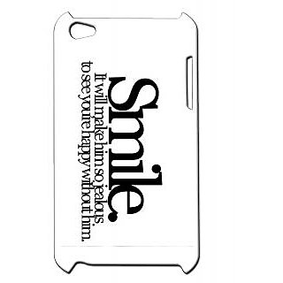 Pickpattern Back Cover For Apple Ipod Touch 4 SMILEWHITEIT4-5366