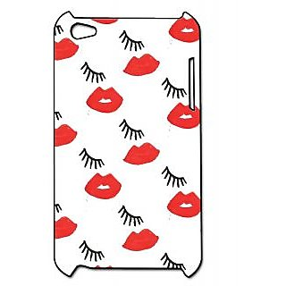 Pickpattern Back Cover For Apple Ipod Touch 4 EYELASHIT4-4921