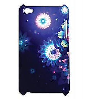 Pickpattern Back Cover For Apple Ipod Touch 4 SHINNYDARKBLUEIT4-4519