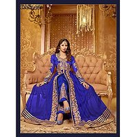 Thankar New Attractive Sangeeta Ghosh Blue Anarkali Suit