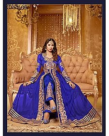 Thankar New Attractive Sangeeta Ghosh Blue Anarkali Suit