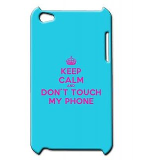Pickpattern Back Cover For Apple Ipod Touch 4 DONTTOUCHIT4-4903