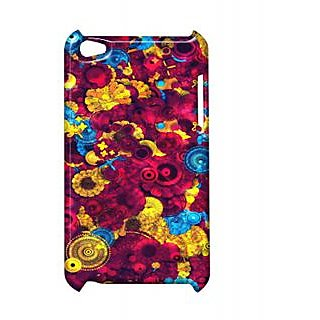 Pickpattern Back Cover For Apple Ipod Touch 4 DARKREDIT4-4885