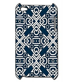 Pickpattern Back Cover For Apple Ipod Touch 4 DARKBLUEIT4-4877