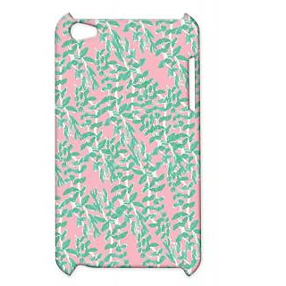 Pickpattern Back Cover For Apple Ipod Touch 4 LEAFONPINKIT4-4374