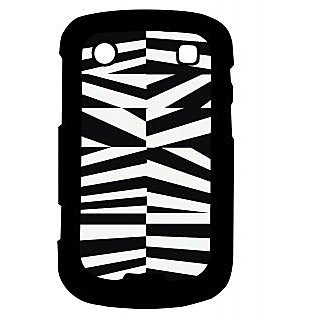 Pickpattern Back Cover For Blackberry Bold 9900 BLACK&WHITEVECTOR9900-5935