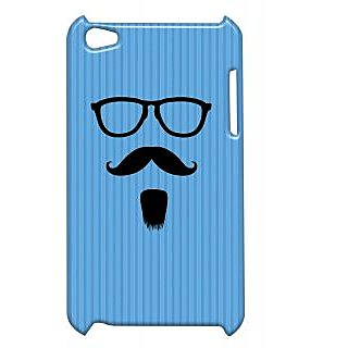 Pickpattern Back Cover For Apple Ipod Touch 4 BLUEGOATEEMOUSTACHEIT4-4772